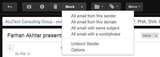block email in gmail