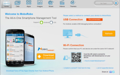 moborobo smartphone management tool