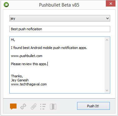 pushbullet windows apps
