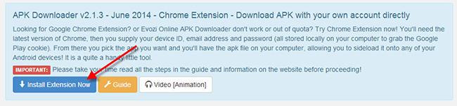 apk downloader chorme extension