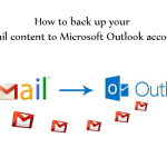 How to back up your Gmail content to Microsoft Outlook account?