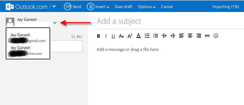 Send mail outlook
