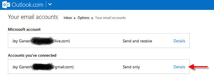 outlook remove