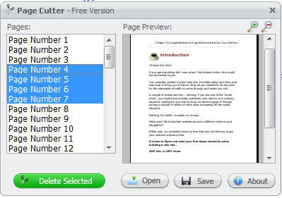 sort and delete pages in pdf