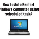 How to Auto Restart windows computer using scheduled task?