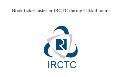 book takkal ticket faster in IRCTC