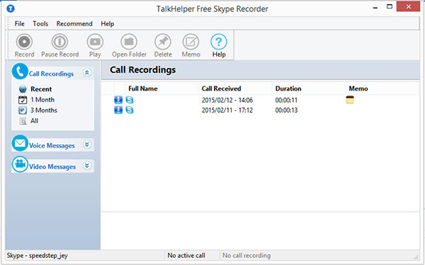 skype call recroding history