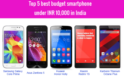 Top 5 best budget smartphone in india