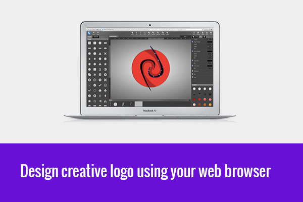 design creative logo from browser