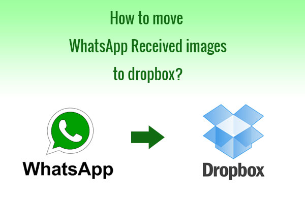 how to move whatsapp images to dropbox