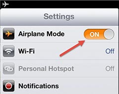 how to turn on airplane mode for mac