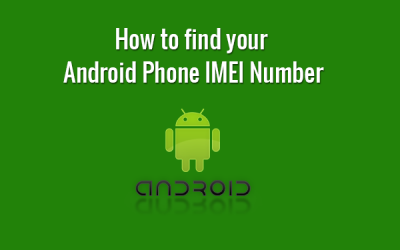 find android mobile imei number