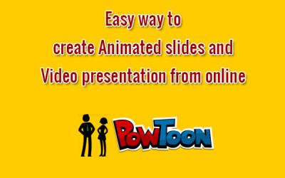 PowToon animated video presentation tool