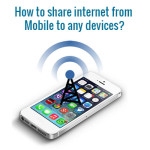 How to share internet from mobile to Laptop?