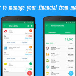 How to manage your financial from mobile?