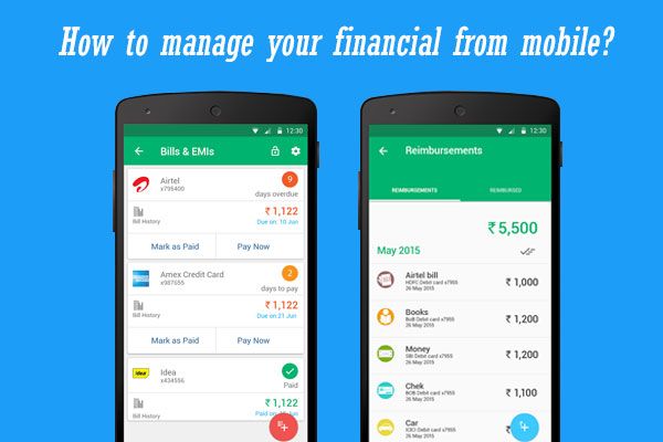 manage your financial from mobile