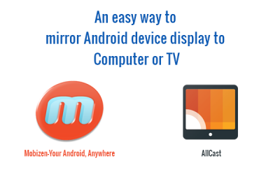 mirror Android device display to Computer or TV