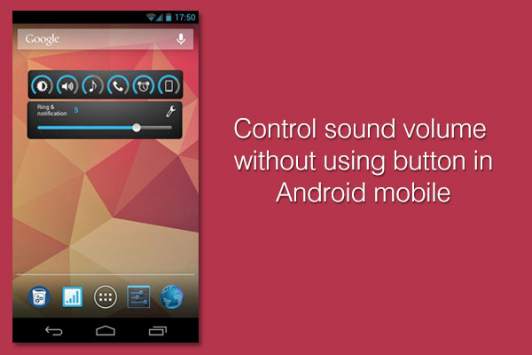 slider android volume control
