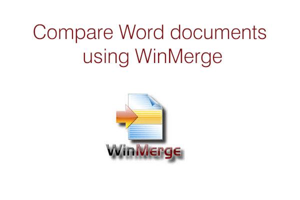 winmerge word plugin