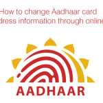 How to change Aadhaar card address information through online?