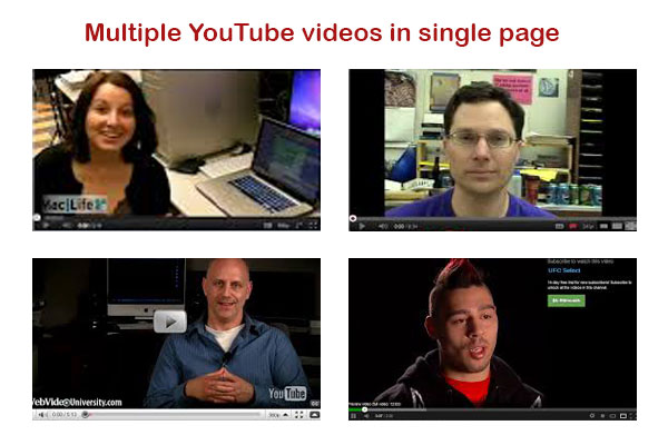watch multiple videos in signle page