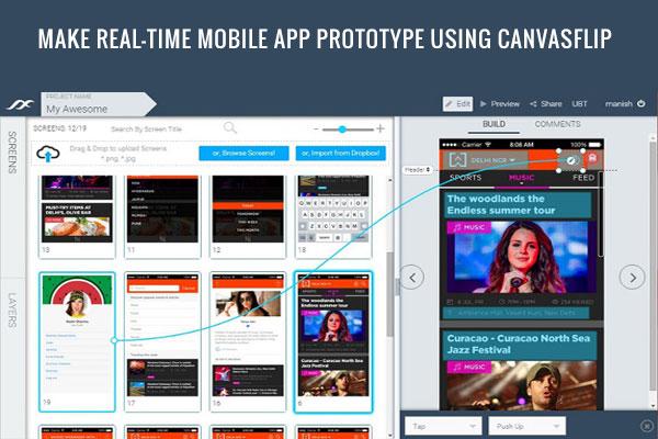 canvasflip clickable prototype