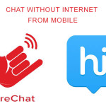 How to chat without internet from mobile?