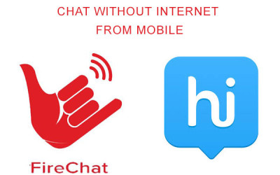 chat without internet from mobile