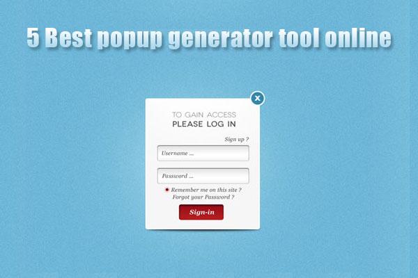 best popup generator online tools