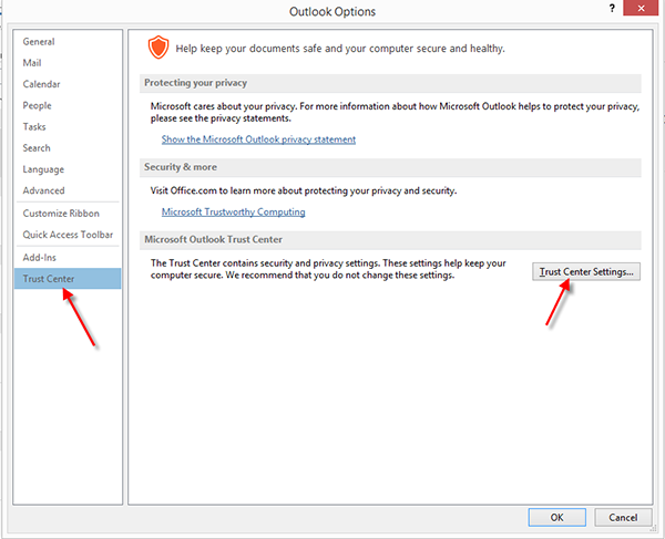 unblock images in outlook