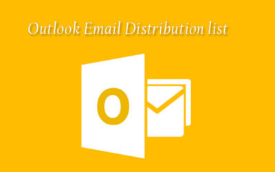 create outlook email distribution list