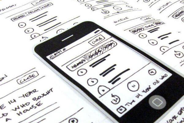 mobile UI prototype
