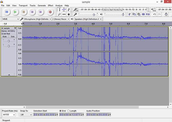audacity noise reduce