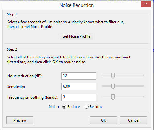 audio noise removar