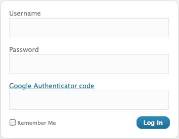 Google Authenticator login