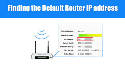 find default router ip address