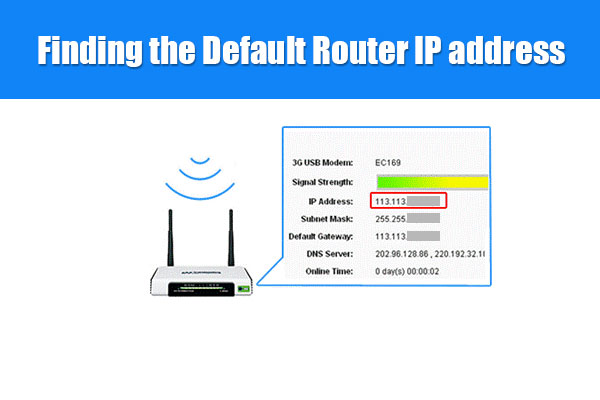 Pagpangita sa Default nga Router IP address