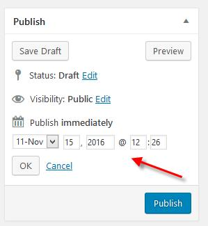 wordpress scheduled article publish