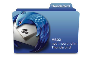 mbox not importing thunderbird