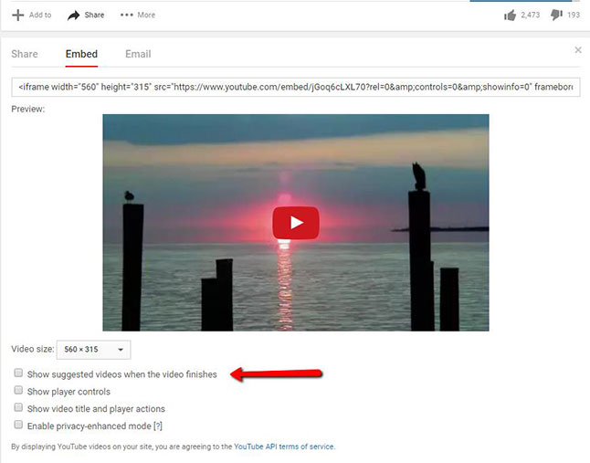 How to Disable YouTube Related videos?