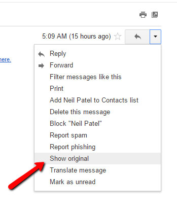 trace email details