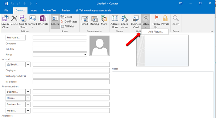add-profile-photo in outlook