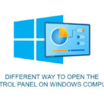Different way to open the control panel on Windows computer