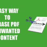 How to Erase Unwanted Content from PDF File